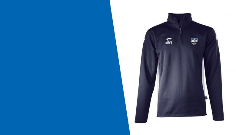 Sweat Zip SPIDO MAX Marine + Logo club